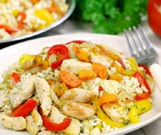 Recipe for chicken risotto. Easy to make, this Italian rice based dish can be done with or without chicken. Toddler Chicken Recipes, Toddler Meals, Baby Food Recipes, Healthy Dinner Recipes, Kids Meals, Easy Meals, Cooking Recipes, Chicken Risotto, Rice Dishes