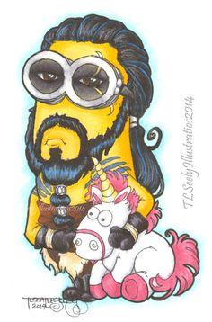 Sketch Card: Khal Drogo Minion by TLSeely on DeviantArt Minion Drawing, Minion Art, Minions, Minion Crochet, Khal Drogo, Nerd Love, Nerdy, Deviantart, Drawings