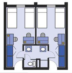 16 Floor Plans Ideas Floor Plans Student Apartment Double Room