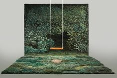 Alexandra Kehayoglou teje a mano alfombras con paisajes de realidades sublimes