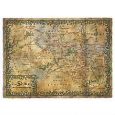 The Hobbit: An Unexpected Journey - Map of the Shire Parchment Art Print by Weta