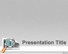 Price Barcode PowerPoint Template with barcode tag and gray background