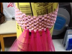 The easy way to make a child play or dance tutu using a crochet headband and tulle fabric rolls from Canada Tulle Ltd.