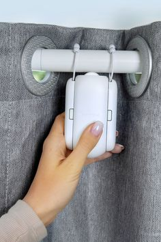 Diy curtains 847310117379041809 - SwitchBot Curtain is a small wireless device that makes any​ ​curtains motorized after 30 seconds of installation. Home Curtains, Ceiling Curtains, Ideas For Curtains, Curtains For Bedroom Window, Curtains And Blinds Together, How To Hang Curtains, Curtain Ideas For Living Room, Living Room Curtains, Bedroom Curtains With Blinds