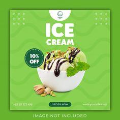 Ice cream social media banner template | Premium Psd #Freepik #psd #banner #food #template #social-media