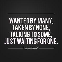 no more dating just waiting