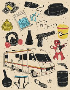 Breaking Bad flash tattoo styled comic.