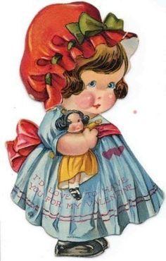 papers.quenalbertini: Vintage Valentine Girl | facilisimo.com