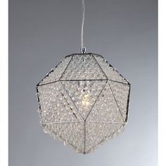 'Poseidon' Chrome and Crystal 1-light Chandelier | Overstock.com Shopping - The Best Deals on Chandeliers & Pendants