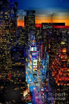 New York City - Times Square Digital Art by Rafael Salazar