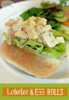 Lobster and Egg Rolls a recipe your seafood loving friends will thank you for