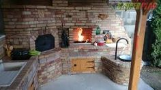 Visit the post for more. Brick Bbq, Pizza Oven Outdoor, Four A Pizza, Barbecue Area, Kitchen Oven, Fancy Houses, Primitive Kitchen, Summer Kitchen, Outdoor Living