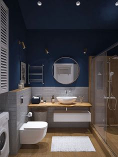 Do you want to build an amazing small bathroom? Here we present the 45 Amazing Small Bathroom Design. May you inspire and build your bathroom as you wish from this article. Contemporary Bathrooms, Modern Bathroom, Master Bathroom, Boho Bathroom, Bathroom Mirrors, Bathroom Small, Bathroom Lighting, Bathroom Bin, Minimalist Bathroom