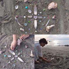 【love_earth_crystals】さんのInstagramをピンしています。 《#クリスタルグリッド #海 #クリスタルヒーリング #祈り #癒し #天然石 #ヒーリング #パワーストーン #レムリアンシード #rosequartz #tormaline #crystalgrid #crystalhealing #gemstones #healingstones #lemuria #seashore #energywork #prayer #healing #rosequartz》