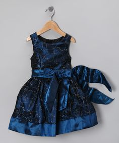 Take a look at this Teal Blue Glitter Heart Bow Dress - Toddler & Girls by Cinderella Couture on #zulily today!