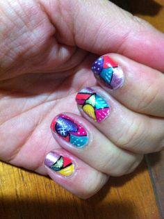 Mis uñas Romero Britto
