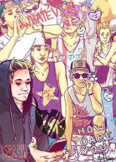 1D Art, Direction Cartoon, Fan Art, Niall Fanart, One Direction Fanart ...