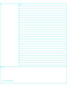 Cornell NoteTaking Paper  WorksheetworksCom  Useful
