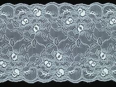 6.5 Inch Flat Double Edge Galloon Lace, Ivory