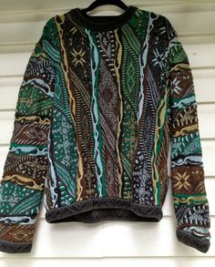 Vintage Forest Colored Coogi Sweater size S by EuphoriaNineDesigns, $56.00 this with leggings and uggs