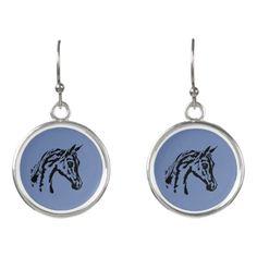 Arabian horse earrings