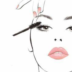Makeup Illustration, Fashion Illustration Sketches, Fashion Sketches, Mac Makeup, Sephora Makeup, Beauty Art, Beauty Makeup, Lash Quotes, Makeup Wallpapers
