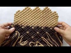 Macrame for wallet part 3 - YouTube