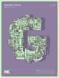 Mekkanika Experimental Typeface | Colossal