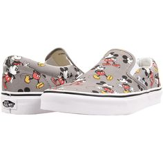 77182fc16b2 Vans Disney Classic Slip-On ((Disney) Mickey Mouse Frost Gray) Skate Shoes