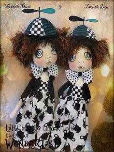 Urchin Art Dolls by Vicki at Lilliput Loft ~ 'Tweedle Dum & Tweedle Dee'