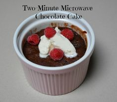 Two Minute Microwave Chocolate Cake Recipe