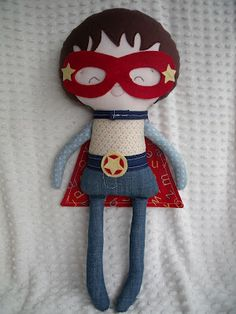 Dandelion Wishes: From the Craft Room - Superhero doll inspiration - he has removable mask, cape and super-belt.