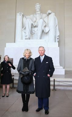 Camilla, Duchess of Cornwall and Prince Charles, Prince of Wales visit the Lincoln Memorial on the second day of a visit to the United States on March 18, 2015 in Washington, DC. The Prince and Duchess are in Washington as part of a Four day visit to the United States.