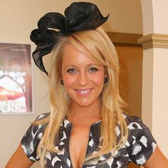 Photo of Carrie Bickmore Derby Day, Carrie, Carry On, Photo Galleries, Dreadlocks, Hair Styles, Hats, How To Wear, Beauty