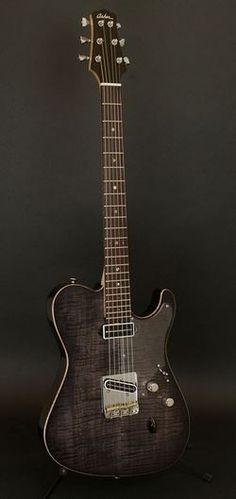 Asher Ultra Tone T-Deluxe faded black stain with clear pick guard