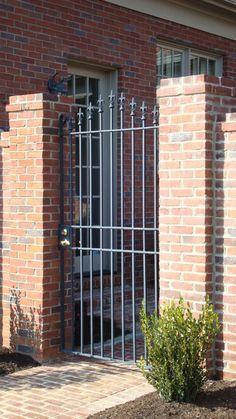 Wrought Iron Gate---locks like this one