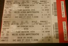 #Rush #TimeMachineTour #WhiteRiverAmphitheater August 7, 2010