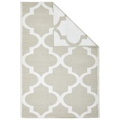 Vézelay Beige Trellis Indoor Outdoor Rug