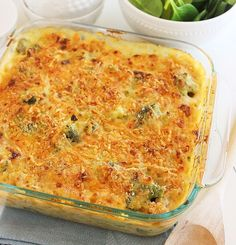 Skinny Baked Broccoli Macaroni and Cheese. Click image for recipe.