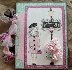Shabby Chic Card, love the colors