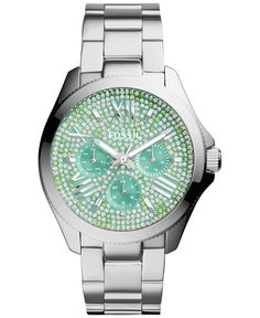 Fossil Women's Cecile Stainless Steel Bracelet Watch 40mm AM4602 - Watches - Jewelry & Watches - Macy's