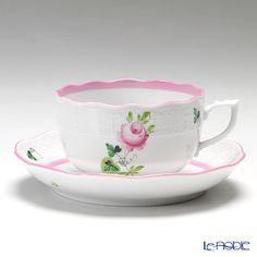 Herend Vienna rose pink Tea cup and saucer