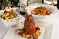 Made-to-order dishes with sustainable and locally-sourced ingredients are the hallmark of Europa's innovative menu. Shown here are (clockwis...