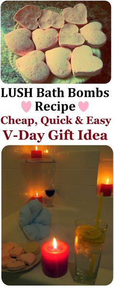 DIY LUSH Heart Bath Bombs Recipe, How to Make LUSH Products CHEAP, EASY & QUICK! More LUSH DIYs on www.MariaSself.com Homemade Gift Idea for Saint Valentine's Day, Birthday, Mother's Day or Christmas