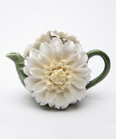 Splendid Daisy Porcelain Teapot - The Teapot Shoppe, Inc. Teapots Unique, Modern Teapots, Tea For One, Tea Pot Set, Pink Orchids, Teapots And Cups, Ceramic Teapots, Chocolate Pots, Fine Porcelain