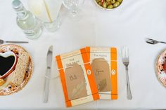 Penguin Book Favours Luggage Tag Leaf Place Cards Names Autumn Literary Hand Made Wedding http://jamesandlianne.com/