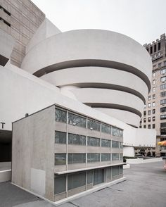 """#PeterFischli, of the artist duo #FischliWeiss was born today in 1952. In 2016 for """"How to Work Better,"""" visitors encountered """"Haus,"""" a 1/5 scale replica of a generic factory building on Fifth Avenue, an architectural counterpoint to #FrankLloydWright's Guggenheim building. Fischli explained, """"A consistent theme in our work has always been the notion of 'popular opposites.' And an idea from the start was to exhibit 'Haus'—which is supposed to represent the most ordinary building of late…"""