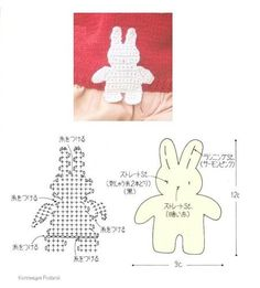 Crochetpedia: 2D Crochet Rabbit / Bunny Applique