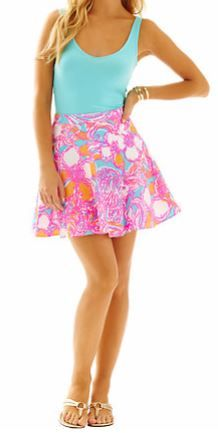 Ava Fit & Flare Skirt in Shorely Blue Feeling Tanked