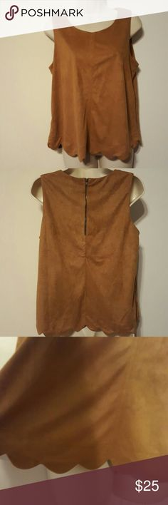 SALE!!🎉 MONTEAU BROWN SUEDE SLEEVELESS ✔Brown Suede Sleeveless ✔In good condition Monteau Tops Camisoles
